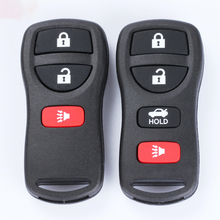 Black Car Key Split Three-button / Four-button Split Remote Control Key Replacement Shell Suit For Nissan Tiandada Paladin Key