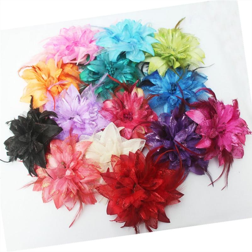 cute Hair band claw Fashion big flower student dance headwear hat decor Luxury Brooch Women hair clip hairpin party lovely girl