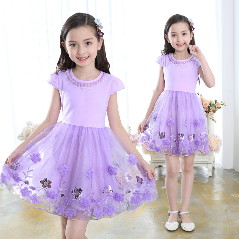 Summer Flower Girl Tulle Dress 2018 Kids Dresses For Girls Party Princess Girl Clothes For 4 6 8 9 10 12 13 Years Birthday Dress 8 colors european style kids summer birthday prom party princess flower girl dresses lace mint dress for girls aged 3 to 13