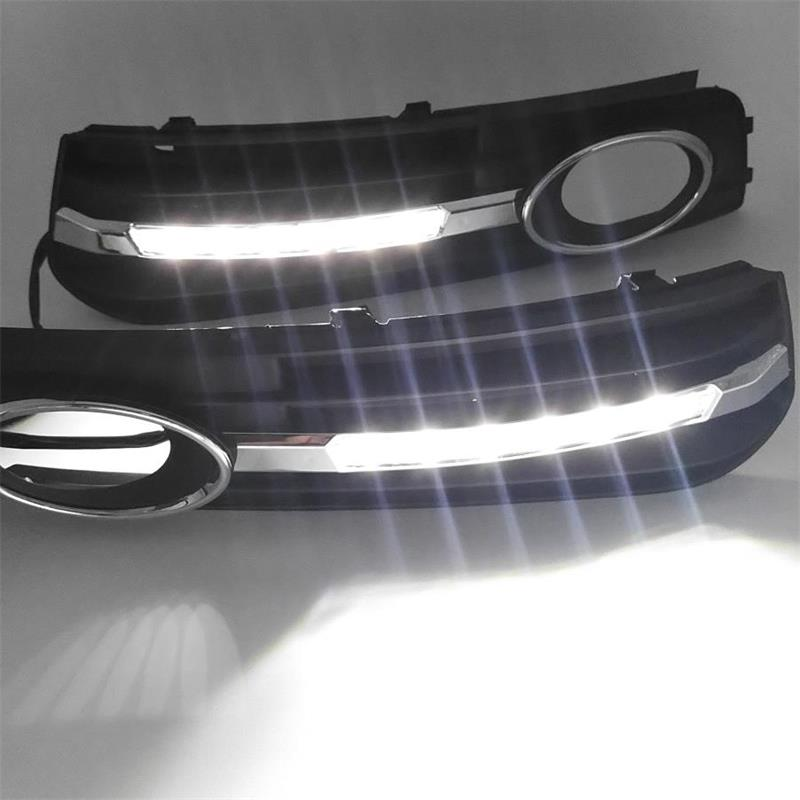 LED Car Light For Audi A4 A4L B8 2009 2010 2011 2012 Car-Styling LED DRL Daytime Running Light Daylight Fog Lamp Cover Hole car modification lamp fog lamps safety light h11 12v 55w suitable for mitsubishi triton l200 2009 2010 2011 2012 on
