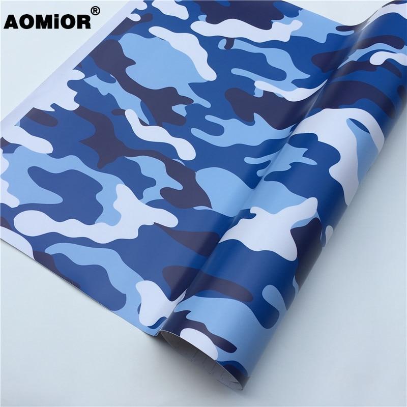 Blue Camo Vinyl Wrap  Film(20)