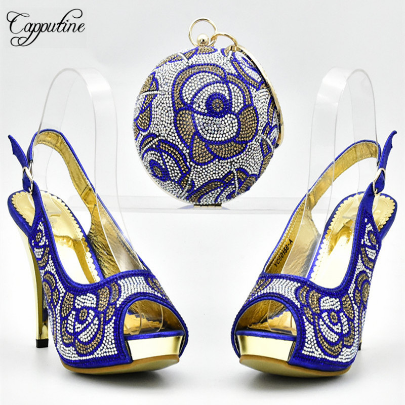 4277e613 Set Bolsa Y Bolso Negro Por El En Bombas azul Df Nueva Capputine Mayor Moda  Stock fuchsia Al oro Africana Precio Para Partido Mujeres Zapatos ...