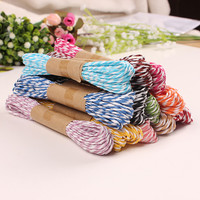 60 X Double Colorful Raffia Paper Rope DIY Braided Packaging String for Gift Box