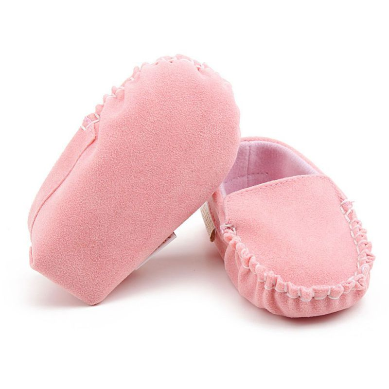 Newborn Baby Boy & Girl First Walkers Moccasin PU Leather Cute Lace Bow-knot Shoes For Kids 1