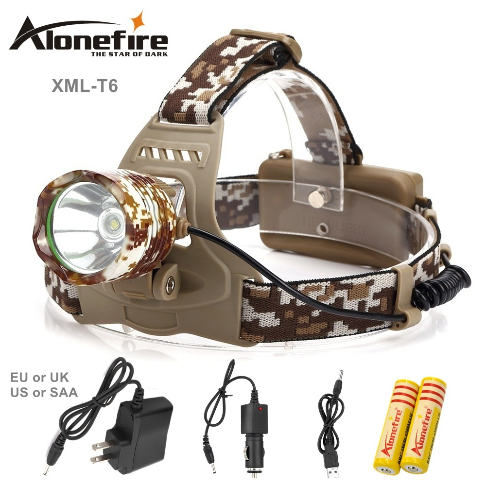 AloneFire HP07 2000Lm CREE XML T6 Zoom LED Headlight Headlamp Head Lamp Light Zoomable Adjust Focus For Bicycle Camping Hiking