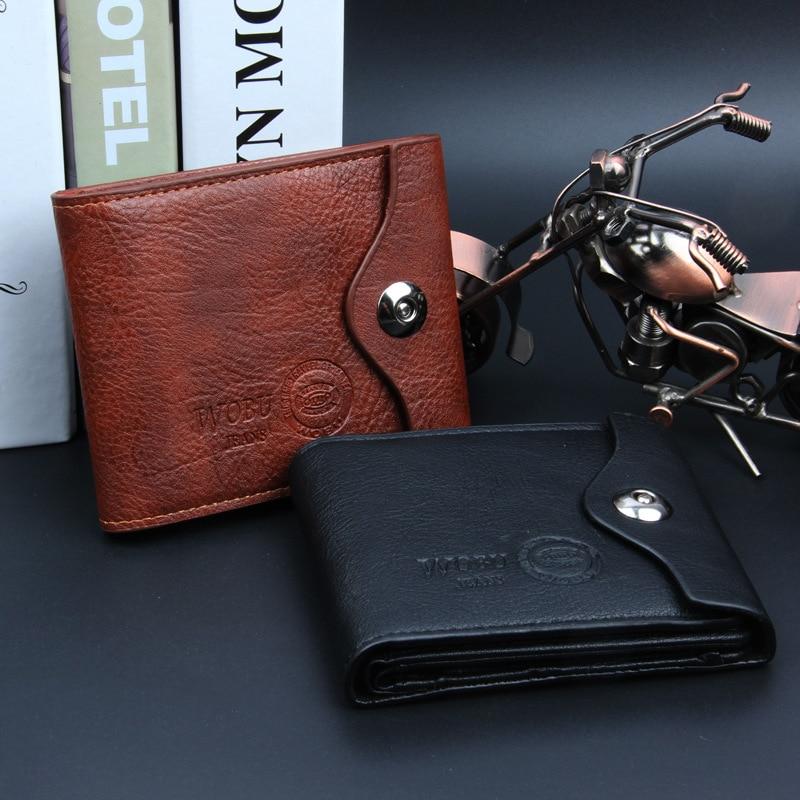 Men wallet Vintage Hollow Out Male Money Bag Hasp Leather Wallet Men Clutch Purse Slim Card Holder Men Wallets Coin Pocket 461