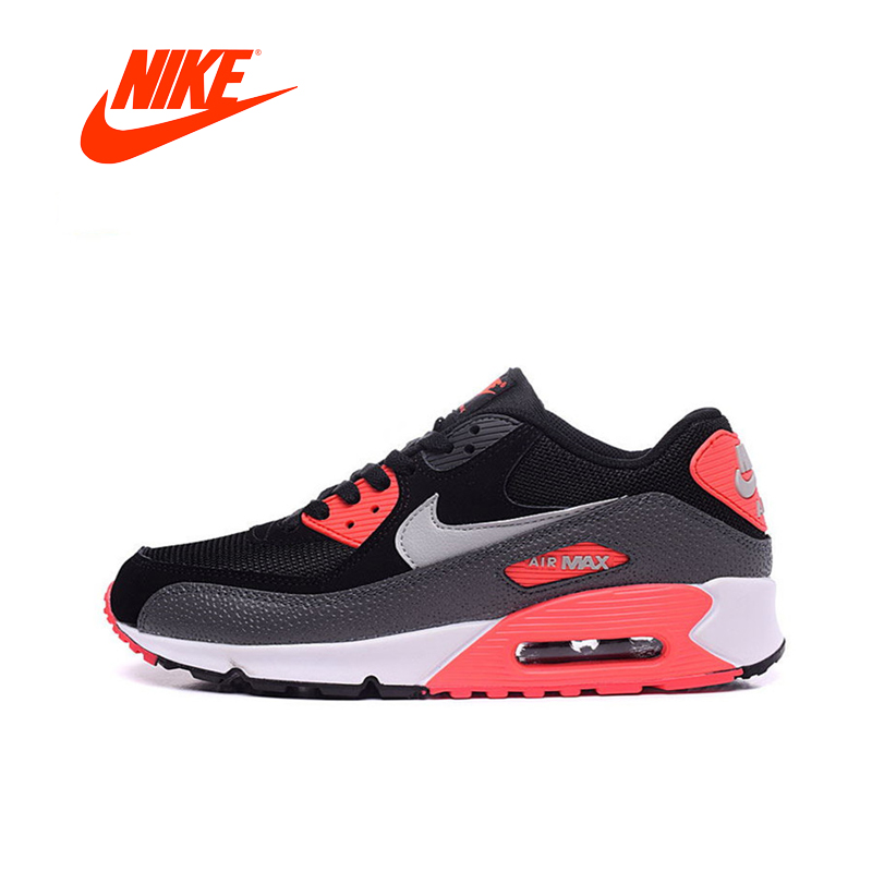 купить Original New Arrival Authentic Nike Women WMNS AIR MAX 90 ESSENTIAL Breathable Running Shoes Sport Outdoor Sneakers 537384-006 по цене 4487.84 рублей