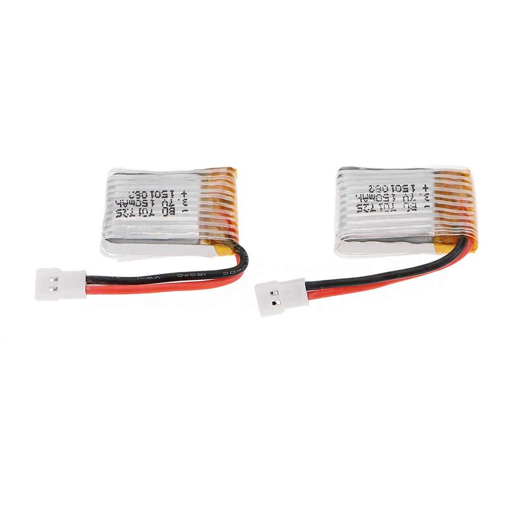 Haute qualité RC pièces 2 pcs 150mAh Lipo batterie 3.7V avec CW + CCW moteur pour JJRC H8 Mini RC quadrirotor