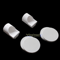 4Pcs Dental Porcelain Honeycomb Firing Trays+40Pcs Zirconia Pins+2Pcs Crucible Hooded
