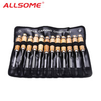 12pcs DIY Woodcut Knife Scorper Wood Carving Chisel Tools Woodworking Hobby Arts Crafts Nicking Cutter Graver Scalpel Pen