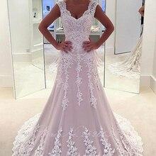 LCELAND POPPY Women's Wedding Dresses Sleeveless V-neck