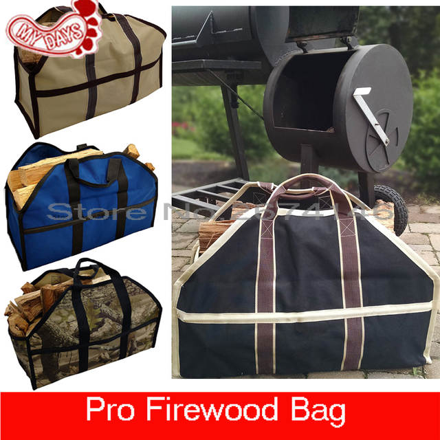 Us 17 85 6 Off My Days Large Capacity Firewood Bags Black Blue Khaki Camouflage Log Tote Bag Fire Wood Carrier Loging Holder Free Shipping In