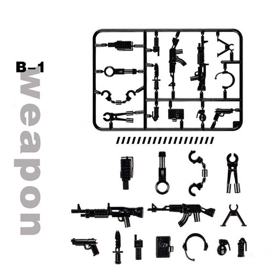 Duplo Militaire Serie Swat Politie Pistool Wapens Pack Leger Baksteen Armen Voor Stad DIY bouwstenen Beste Kinderen Gift Speelgoed duploeds