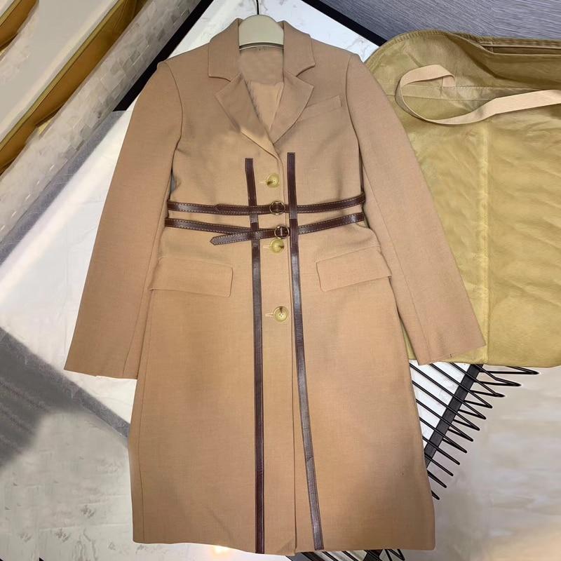 Longues blanc Kaki Manteau Femmes Printemps Pour Veste Couleur Femme Survêtement Long À Manches 2019 Vestes Les Mode Solide nO80wPk
