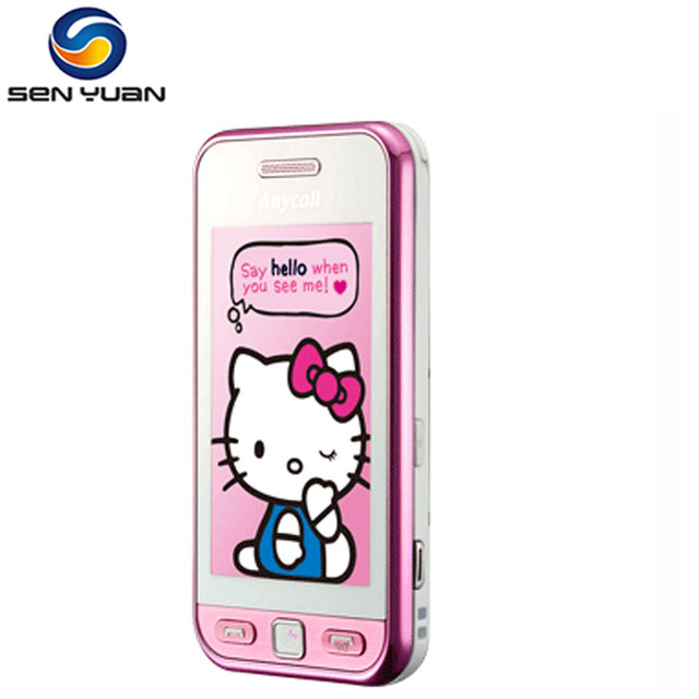 83e9788782c0e Original Unlocked Samsung S5230 Mobile Phone 3.0 inch Touch screen 2MP  Camera hello kitty Cell Phones Free Shipping