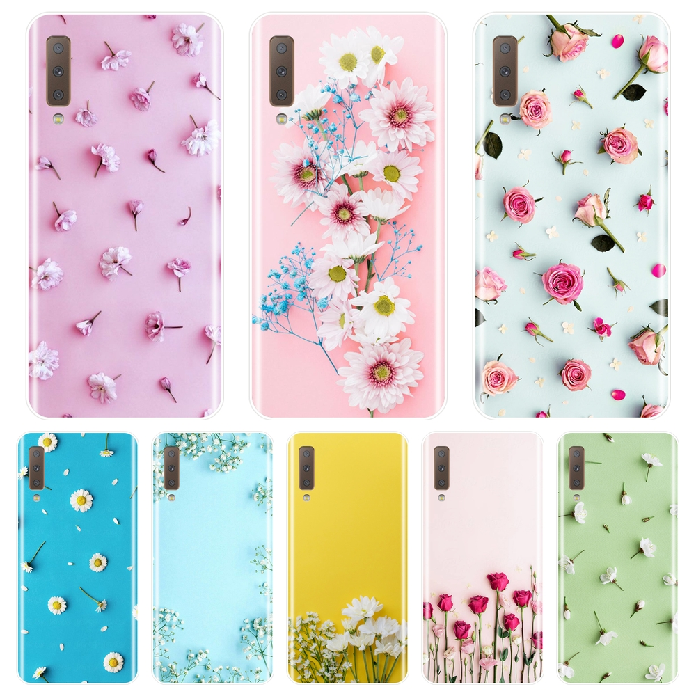 TPU Rose Flower Back Cover For <font><b>Samsung</b></font> <font><b>Galaxy</b></font> <font><b>A6</b></font> A7 A8 2018 A3 A5 2016 2017 Soft Silicone <font><b>Phone</b></font> <font><b>Case</b></font> For <font><b>Samsung</b></font> <font><b>A6</b></font> A8 Plus 2018 image
