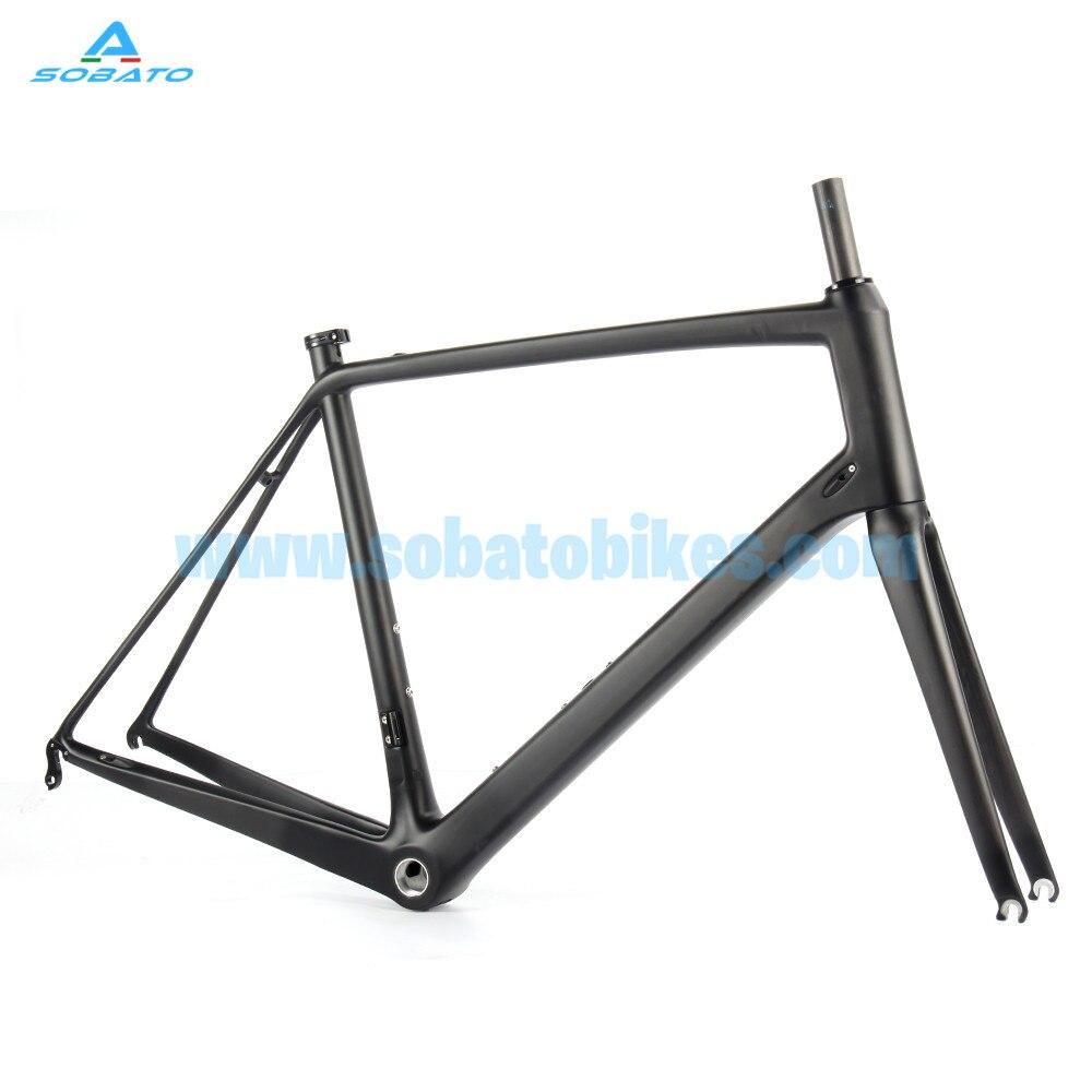 New Arrival Sobato Bike 888 carbon bicycle frame T800 super light carbon fiber road bike frame Di2 compatible bicycle 700C