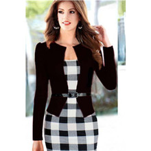 Womens Celebrity Tartan Colourblock Work Party Cocktail Woman Casual Dress Bodycon Dress Size S-XXL