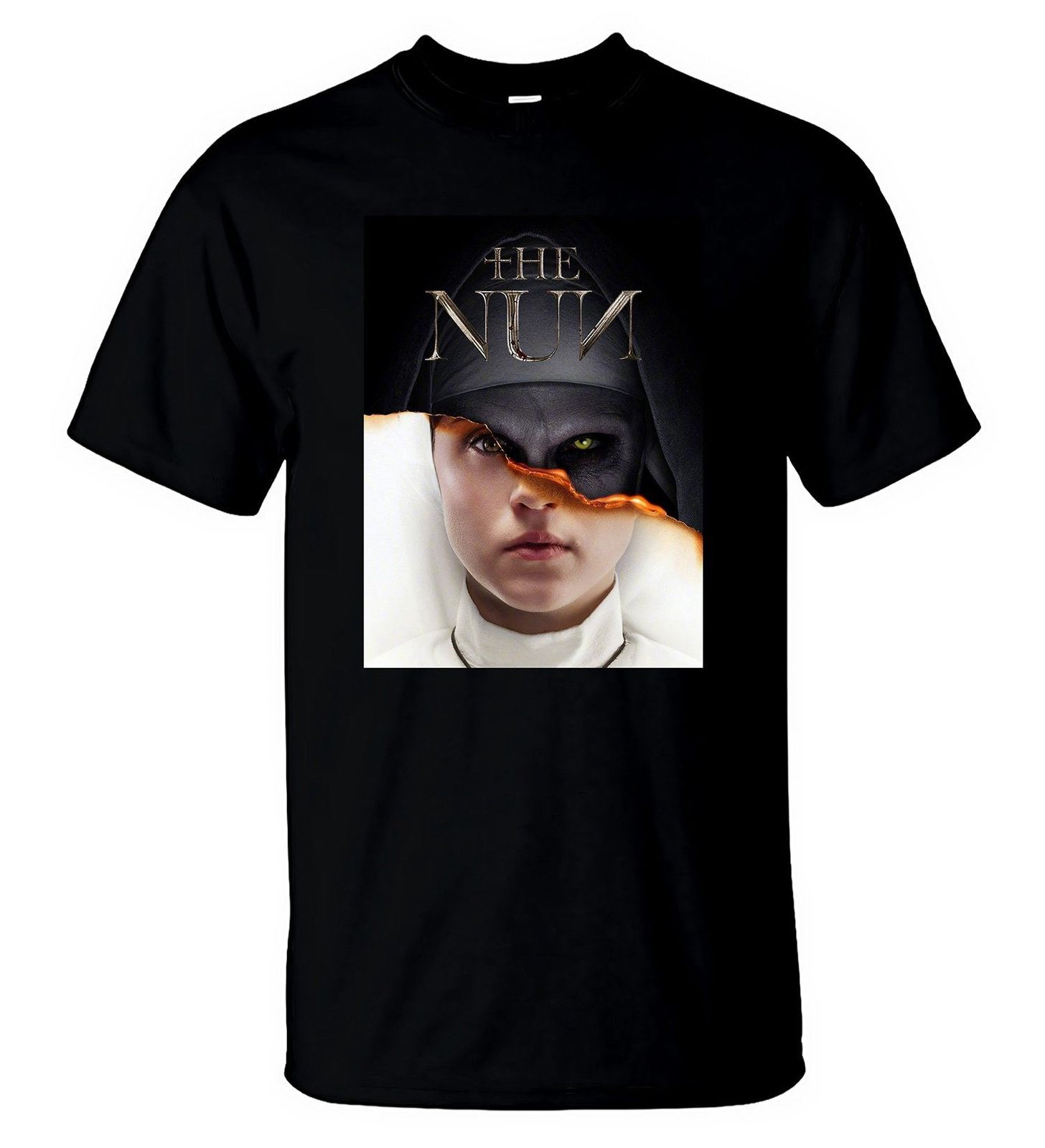 The Nun T Shirt American Horror Thriller Movie Nice Men T-Shirt Size S-5XL image