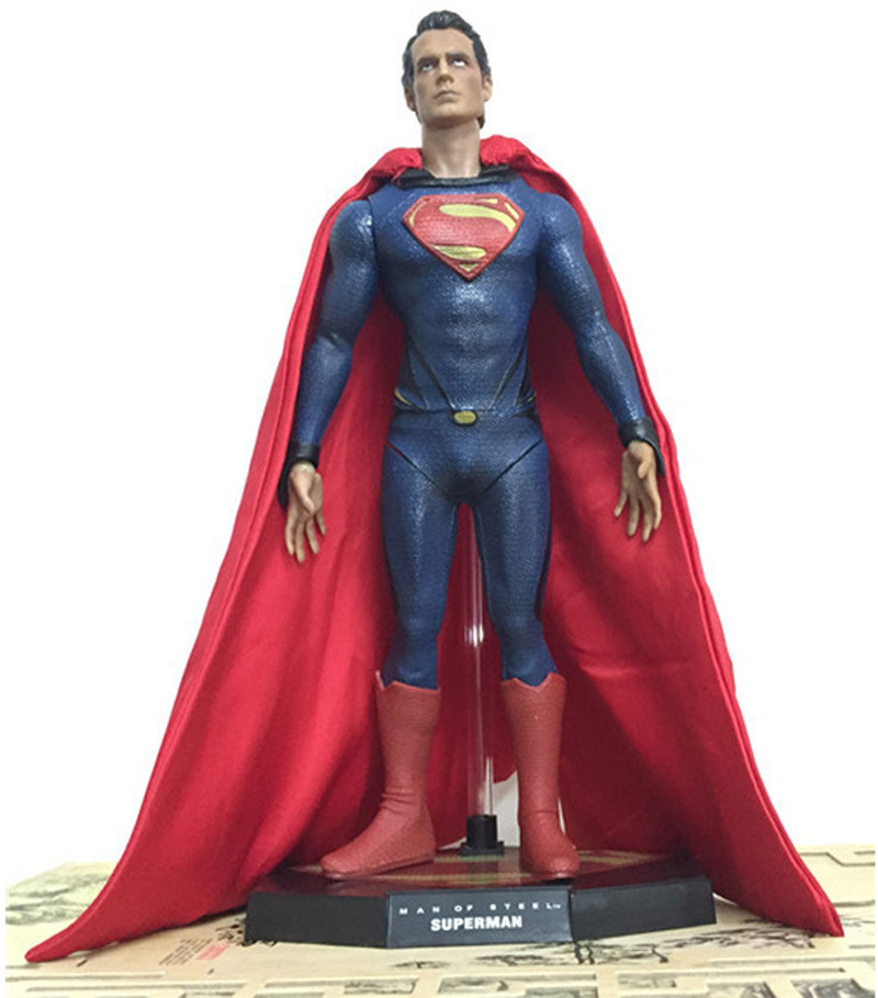 NEW 1pcs 25cm pvc anime figure big size Superman the avenger action figure collectible model toys brinquedos цены