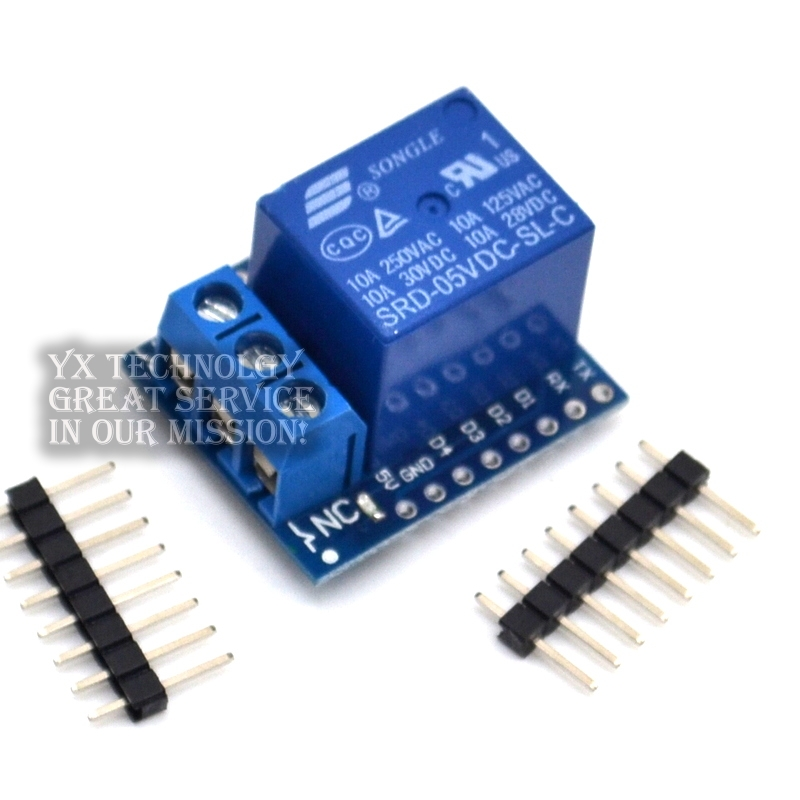 1CH Relay Shield V2 Version 2 for WEMOS D1 mini ESP8266 WiFi Module