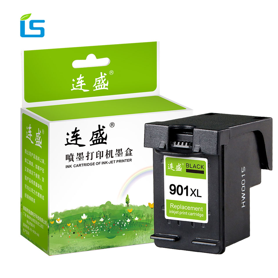 1Pcs 901xl Black Remanufactured Ink Cartridge Replacement For <font><b>HP</b></font> <font><b>901</b></font> <font><b>XL</b></font> For <font><b>HP</b></font> Officejet J4500 J4524 J4530 J4540 J4550 J4680 image