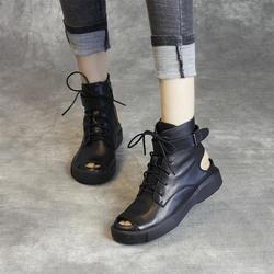 Ретро Женские Оригинальные сандалии из телячьей кожи летняя Классическая обувь для Для женщин Повседневная накидка каблук плоский WithBuckle