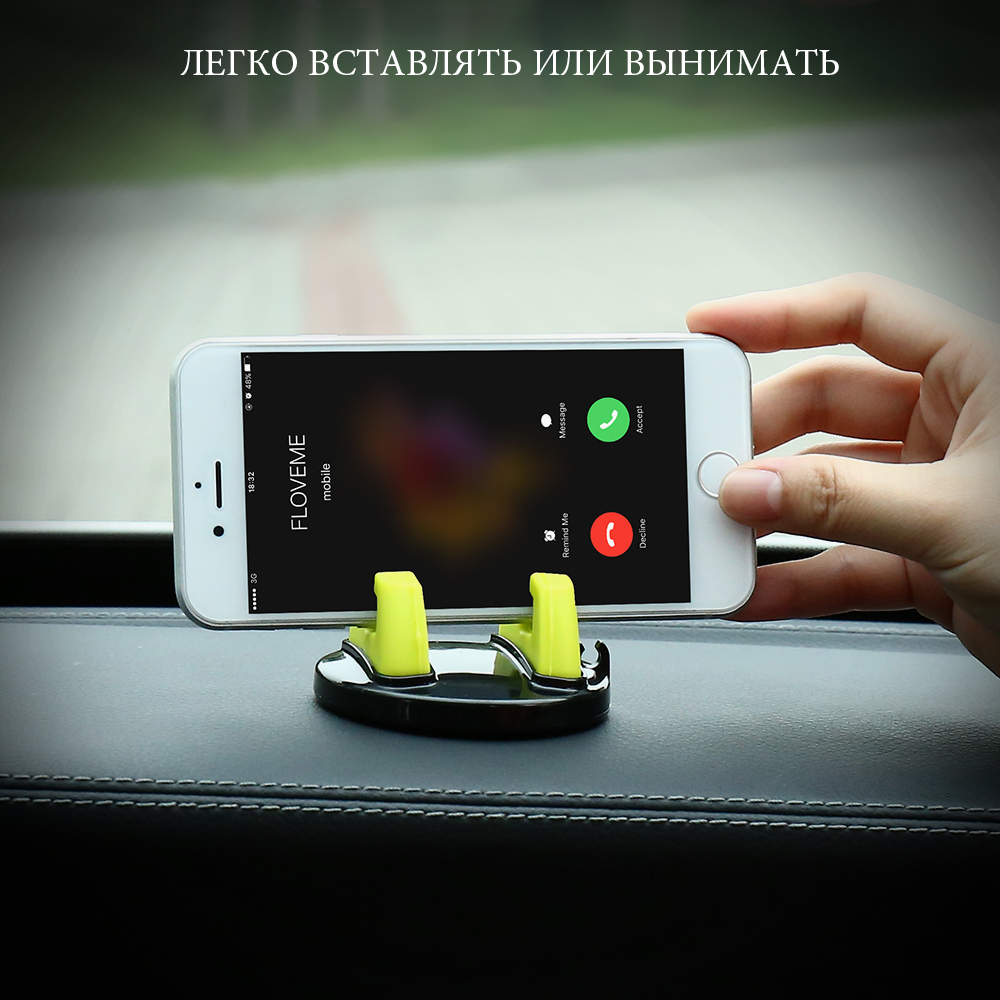 KISSCASE 360 Graus Rotatable Auto Car Holder Para iPhone 5 Desktop Phone Stand Holder Para Samsung S8 S7 S6 Xiaomi Mi6 5