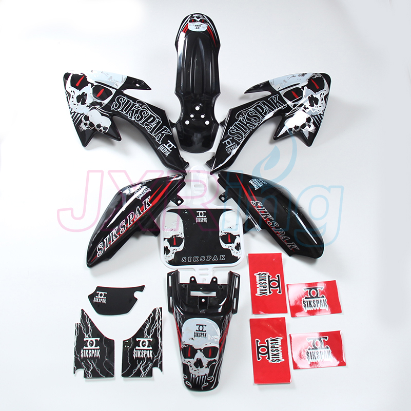Racing 3M graphics decals kit and plastic covers fenders set for motorcycle DIRT PIT BIKES XR CRF50 SSR70 free shipping kitbwkk5000rcp750411 value kit rubbermaid autofoam touch free skin care system rcp750411 and boardwalk premium half fold toilet seat covers bwkk5000