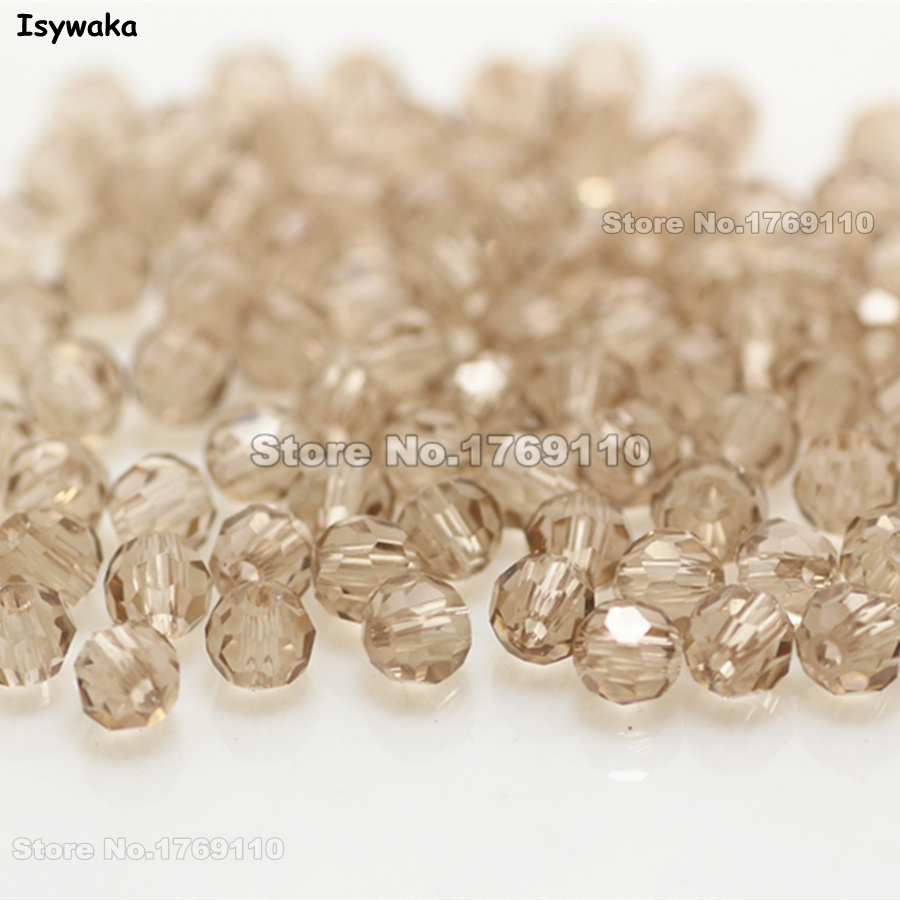 Beads Isywaka Non-hyaline White Ab Color 98pcs 4mm Round Austria Crystal Bead Ball Glass Bead Loose Spacer Bead For Diy Jewelry Making Jewelry & Accessories