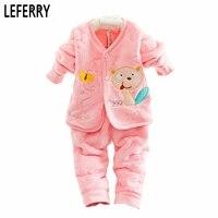 Flanela Do Bebê Recém-nascido Meninas Roupas Conjunto de Roupas de Bebê Menino 2016 New Born Roupa Do Bebê Set Vestuário infantil Primavera Inverno