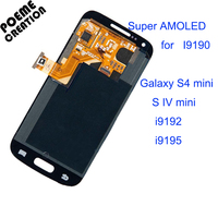 100 Tested Super AMOLED For Samsung I9190 LCD Display S4 Mini LCD Screen Touch Digitizer Assembly