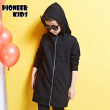 Pioneer Kids 4-16T Boy Clothes Boys long Jacket 2016 Spring Letter Boys Outwear For Children Brand Kids Coats 6J779