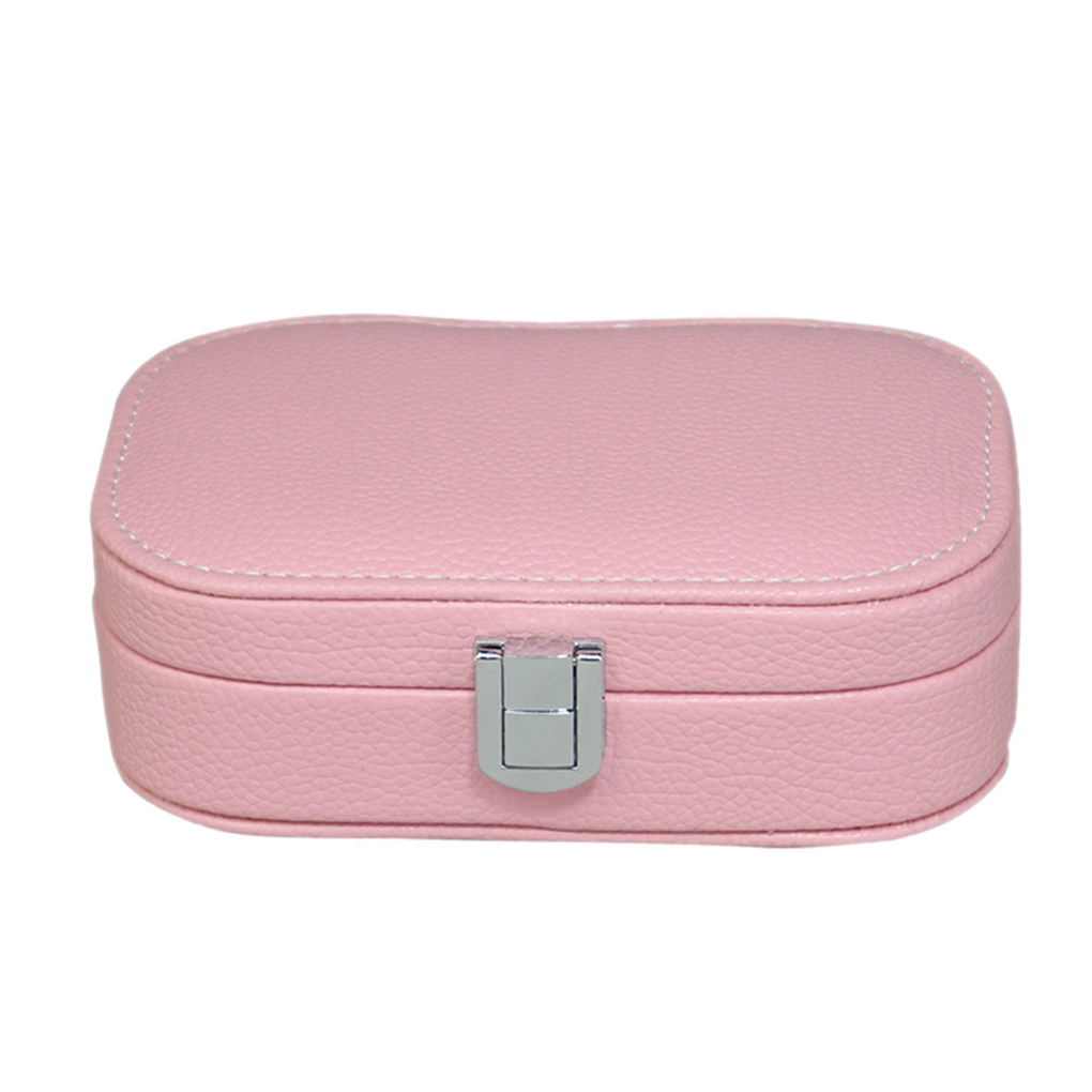 Jewelry Storage Box Bins Small Faux Leather Travel Wedding Earring Ring Holder ...