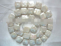 Huij 00648 Wholesale 11 5mm White Square Freshwater Pearl Beads