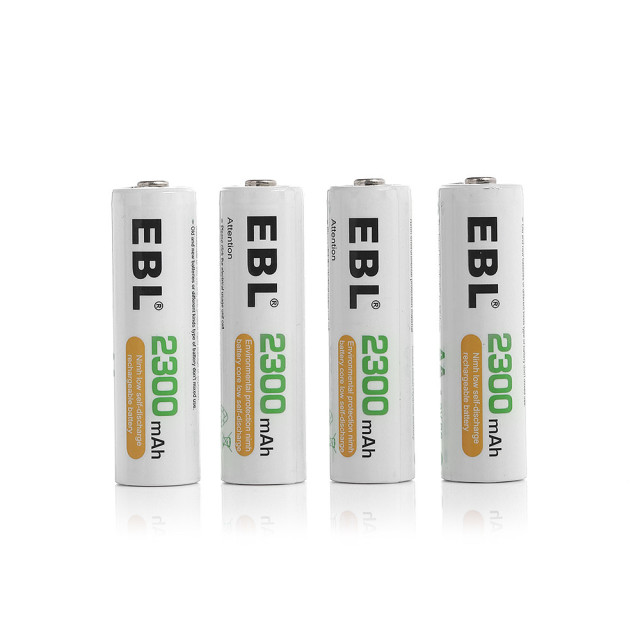 4pcs EBL 2300mAh Rechargeable Battery + Intelligent LCD Battery Charger for AAA AA Ni-MH NiCd Battery Universal free shipping