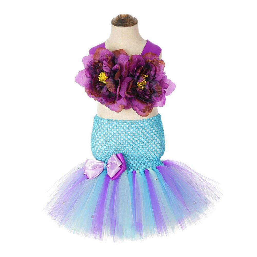Little Princess Mermaid Girls Tutu Dress with Fish Tail Girls Dresses Age 13 14 Years Old Girls Mermaid Wedding Dresses 3 Pieces (1)