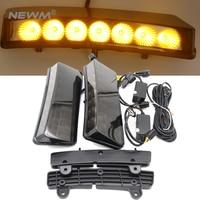 Светодиодные дневные Бег свет белый/желтый для Nissan 350Z 2003 2004 2005 DRL 7-LED переднего бампера Отражатели габаритные огни
