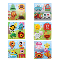 3D Cartoon Wooden Jigsaw Puzzle Board Baby Kids Children Puzzles Magic Cubes Developmental Toy For