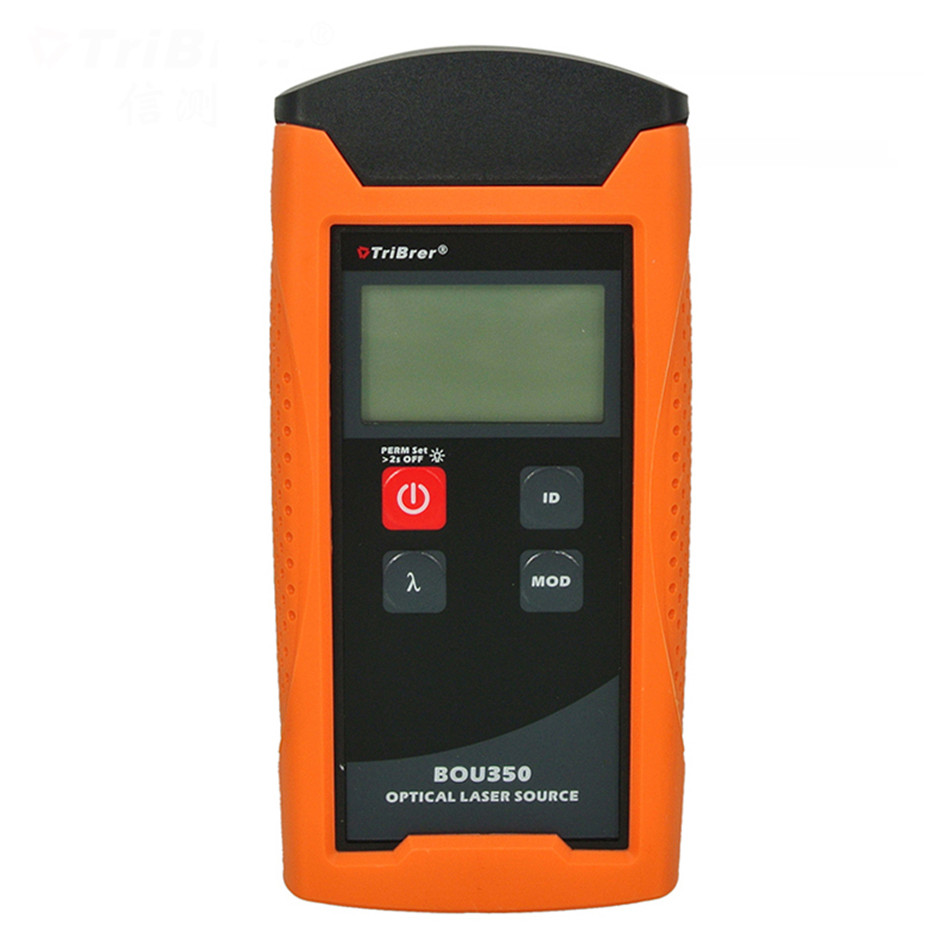 BOU350 Fiber Optic Laser Light Source 1310 /1550nm 10mW VFL OPM Power Meter Tester mt 7601 fiber optic power meter laser fiber optic tester optical fiber power meter automatic identification frequency