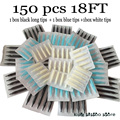 Disposable Tattoo Tips 150pcs 18FT Sterile Assorted Plastic Tattoo Tips Nozzles Tube For Tattoo Machine