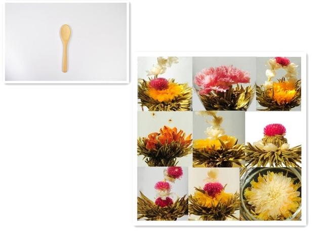 Tea Scoop+gift 120 Kinds Blooming Flower Tea, Artistic Flower Tea, CK02, Individual vacuum package. Free Shipping