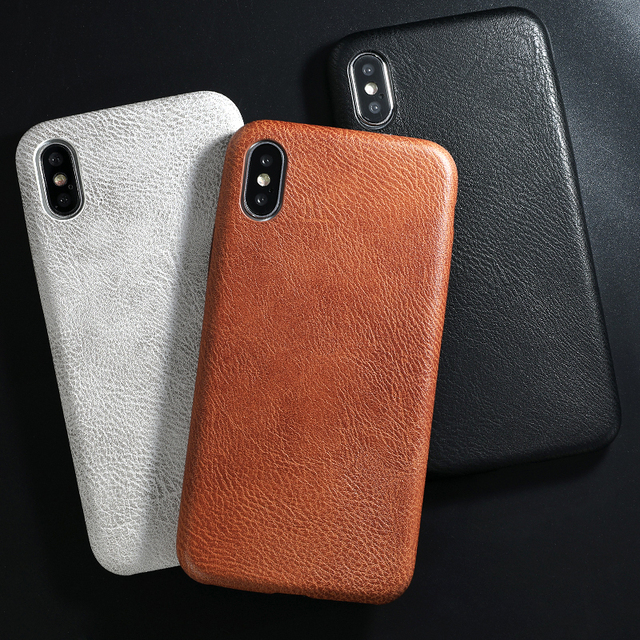 SoCouple PU Leather Pattern Phone Case for iphone 6 6s 7 8 plus Case Crocodile Skin Soft Back Cover For iphone X xs max XR Case