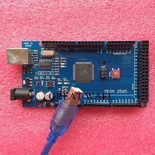 10set/lot MEGA 2560 R3 (ATmega2560-16AU CH340G) AVR USB board + USB cable (ATMEGA2560 ) for Arduino MEGA2560 xindai
