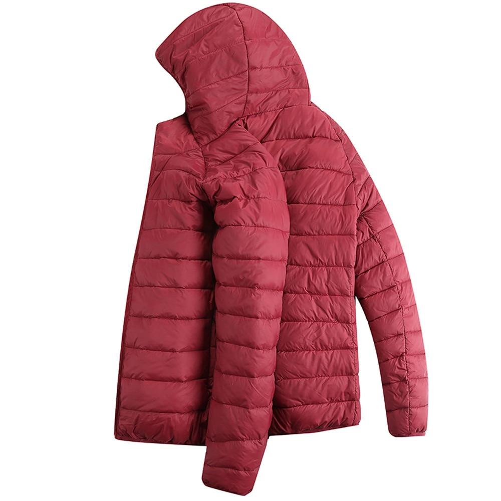 HTB1Nd3 XvfsK1RjSszbq6AqBXXaE Jacket Men Autumn Winter Style Light Weight Overcoat Outerwear Coats Cotton Warm Hooded Men's Jacket Coat chaqueta hombre S-2XL