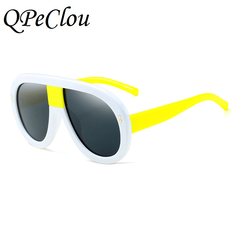 bcbfab473e Detail Feedback Questions about QPeClou Unique Brand Oversized Aviator Sunglasses  Women Modern Style Small Face Sun Glasses Female Big Frame Oculos Eyewear  ...