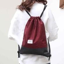 2019 Drawstring Bags Beach Bag Outdoor Fitness Sport Bag Bundle Pocket Convenient Unisex Drawstring Travel Bag backpack#