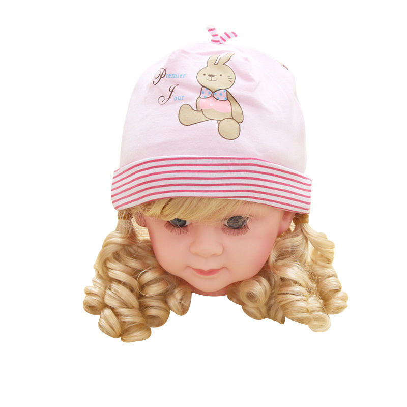 Lovely Baby Hat For Boys Girls Cute Rabbit Baby Beanie Hat Cotton Soft Newborn Tire Hat Spring Autumn 0-3M Baby Girls Clothing