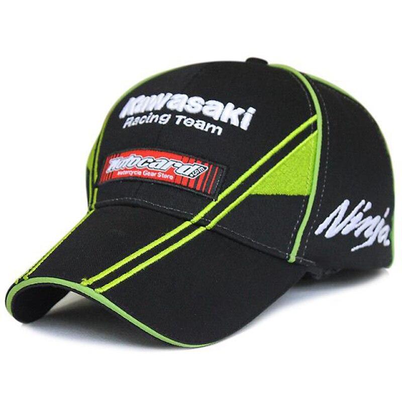 Prix pour MOTO GP Kawasaki Ninja 76 Moto Racing Cap 2016 Hommes Bouchon Sport Cool Casual Soleil Racing F1 Casquette de baseball En Plein Air Casquette