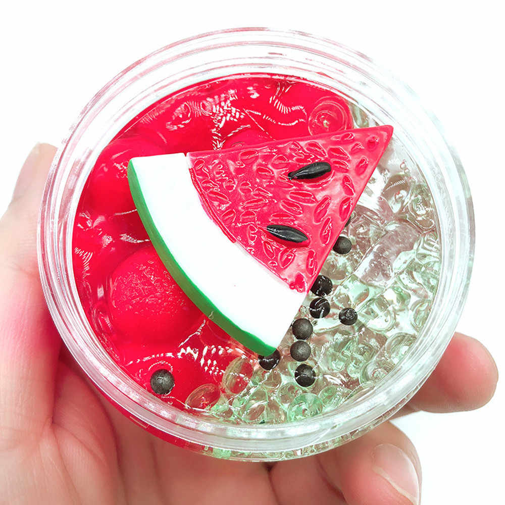 Watermelon Mud Fluffy Floam Slime Stress Relief Toy Fruits Scented Sludge Toy New Arrival Dropshipping